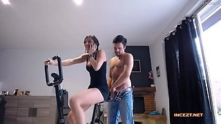 fuck and creampie sister bike gym