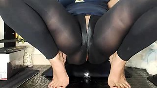 Mutual masturbation in nylon