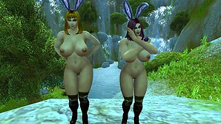 Warcraft Busty Human Bunnies