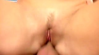 Girlie with small tits impresses her stud with a perfect cock ride