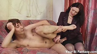 bend over and let mom will give you a prostate massage