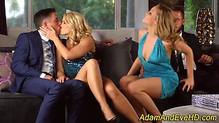 Jizz swapping ho 4some