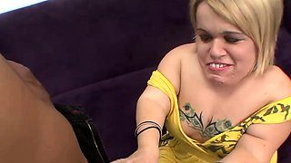 Cute Blonde Midget Tries a Bbc