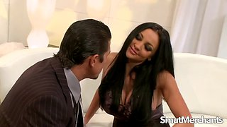Busty babe audrey bitoni gets pleasured and drilled