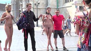 Hardcore BDSM public humiliation bondage session with Dolly Diore