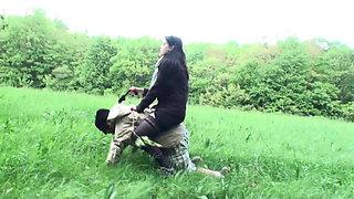 Femdom Ladies use slaves for riding