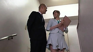 Hot teacher teases with ass and gets twat licked sensually