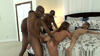 White Pig Whore Ass Fucked By Gang Of Black Monster Cocks