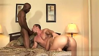 Two bisexual dudes and one nasty chick go wild...