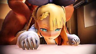 Chained 3d animated tittyfucking and hot pussyfucking