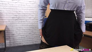 Captivating upskirt of sex-appeal secretary Cherry Blush