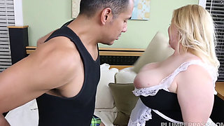 1080p Nikky Wilder Blonde BBW Maid Enjoys Pussy And Arse Fucking