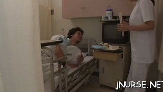 Strong sex scenes with a nurse
