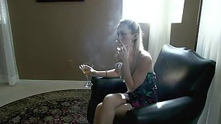 Hottest amateur Smoking, Solo Girl porn clip