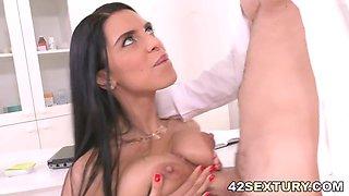 Natural busty Nurse Kira Queen Loves Big Dick