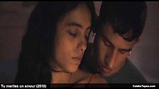 Hafsia herzi &amp sophie garagnon sexy and romantic movie scene