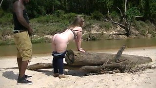 White wife goes to Africa for some real hard cock