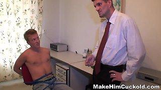 make him cuckold - shall be punished by a girlfriend Gang bang