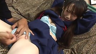 Schoolgirl Ageha gets pussy fingered!