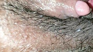 Cock Rubs Big Ebony Clit
