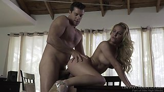 stunning blonde is rammed from behind @ the babysitter #11