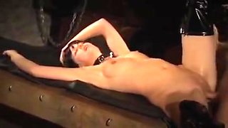 Spanking, anal and facial for a delicious slave girl