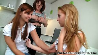 Mature lesbian tutor can be proud of her students.