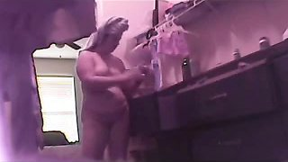 Hidden cam in the public bath locker room for ladies