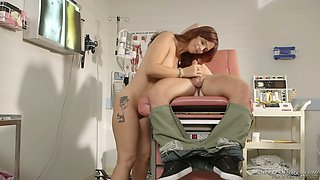 Awesome seductive milf Syren De Mer shows her big boobs to one young dude