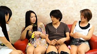 One very teacher is having foursome with beauty students