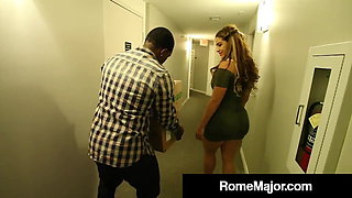 Black Knight Rome Major Fucks Latina Babe Miss Raquel!