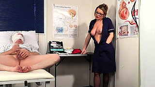 Domineering nurse watches