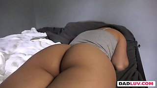 Step daughter Jeleana Marie gives head to step dad
