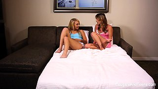 Two Hot Babes Get Down Dirty With This Milf - CougarsandTeens