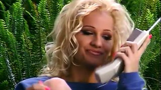 Fine and sassy blondie on the couch enjoys cunnilingus from her young boyfriend