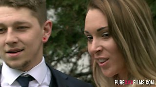 Whore bride Victoria Summers is fucked by hot tempered best man