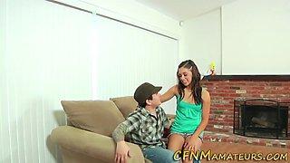 Short teen amateur blows