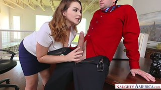 Office slut Natasha Nice is fucked hard right on the table