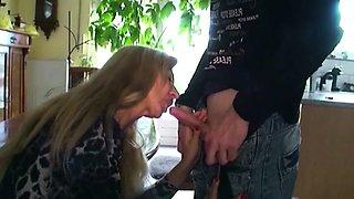 German MILF Seduce 18yr old Son from neighbor to Fuck