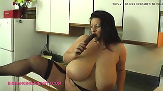 biggest boobs ever in a kitchen near you