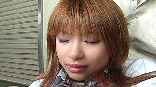 Skanky Japanese student Hitomi Odagiri gets abused by her teacher
