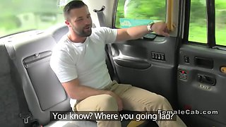 hot inked cab driver rides clients cock
