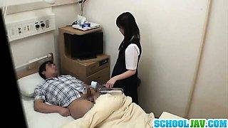 Teen Schoolgirl Sucks And Fucks A Guy In A Hospital Bed