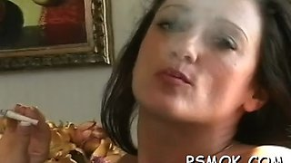 gorgeous provocative slut smoking extreme 2