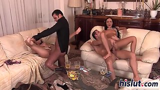 hot foursome session with valentina and mela
