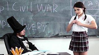 InnocentHigh - School Girl Pressured To Fuck Teacher