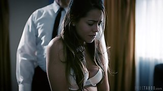 Modest student Alina Lopez is punished by kinky old teacher