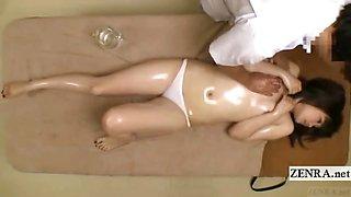 Subtitle Japanese ENF schoolgirl sensual breast massage
