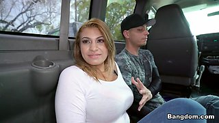 Big Tit Latina Hops on The Bus - BrownBunnies