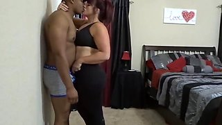 Thicc amateur interracial after the gym takes bbc